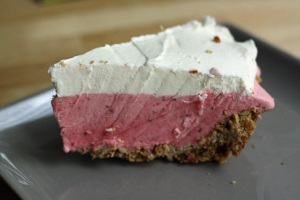 Strawberry Pretzel Icebox Pie